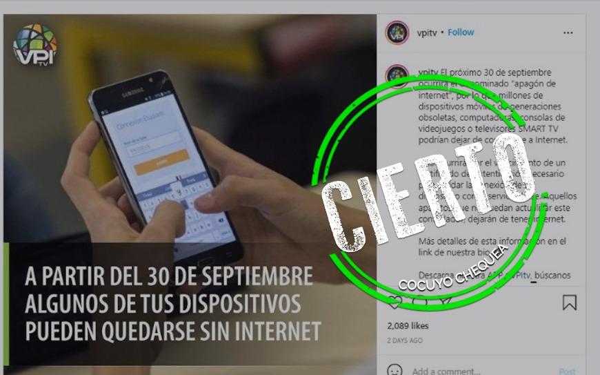 ¿Algunos dispositivos no podrán conectarse a internet a partir del 30 de septiembre?