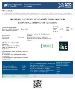 Certificado Digital de Vacunación